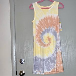 Thread and Supply hand dyed tie dyed spiral dress
